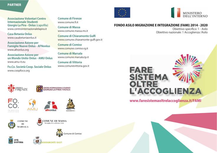 Brochure progetto Fare sistema 1