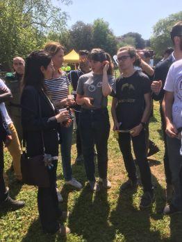 La sindaca Raggi con la Fondazione Diana