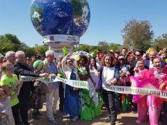Taglio del nastro per l'inaugurazione del Villaggio per la Terra 2018